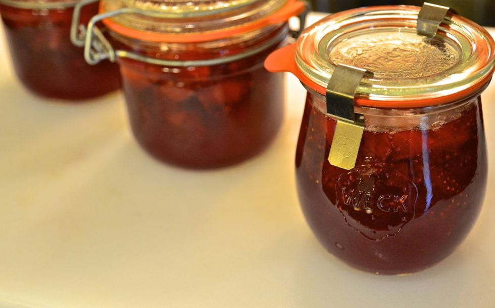 Mermelada de fresas y miel