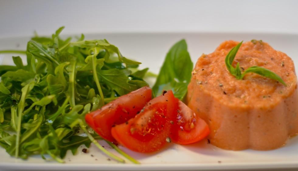 Bavarois de tomate y ricotta