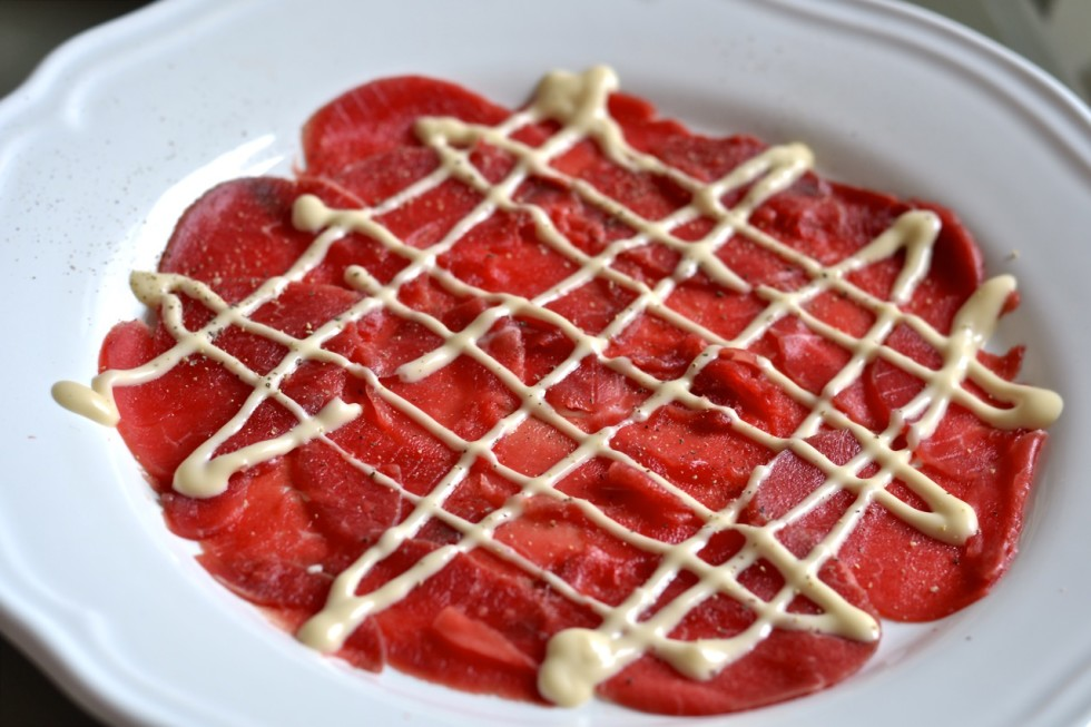 Carpaccio de buey Harry's Bar