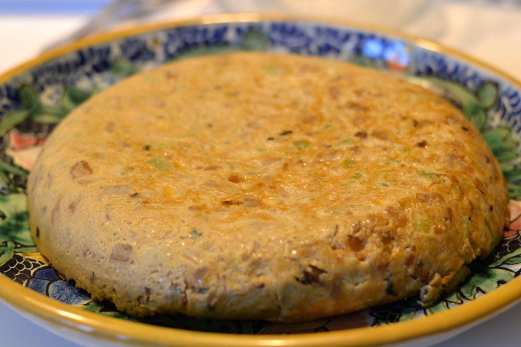 Tortilla de patata con calabacín