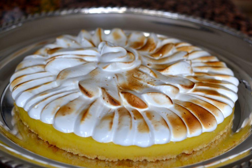 Tarta de limón y chocolate blanco