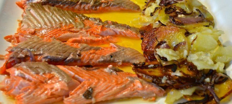 Trucha noruega al horno