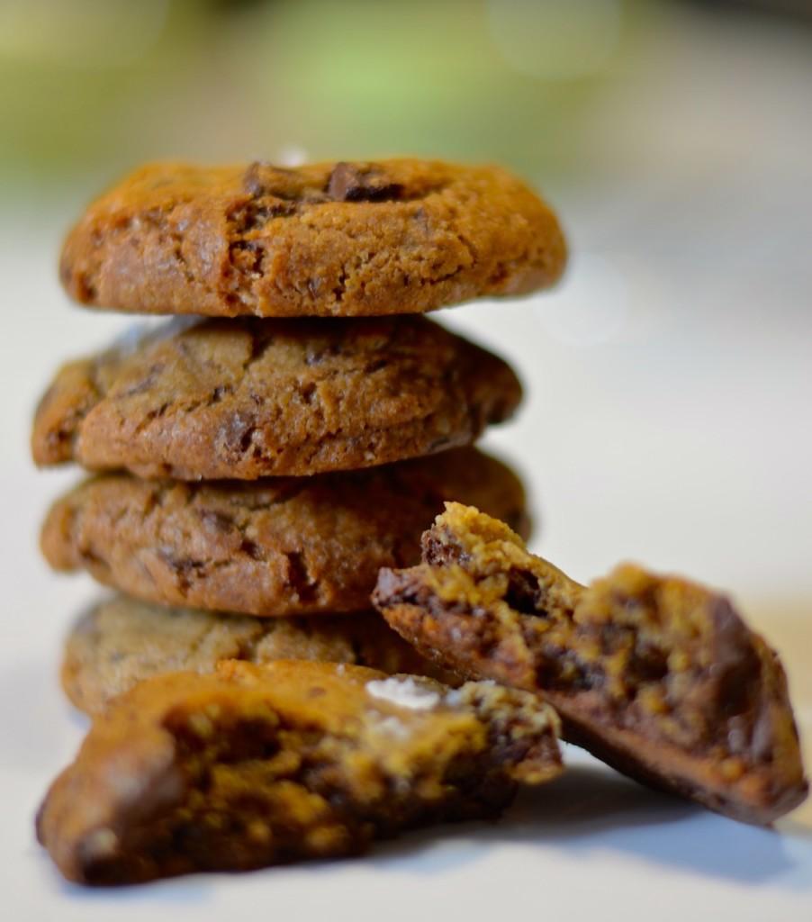 Cookies con chocolate y sal maldon