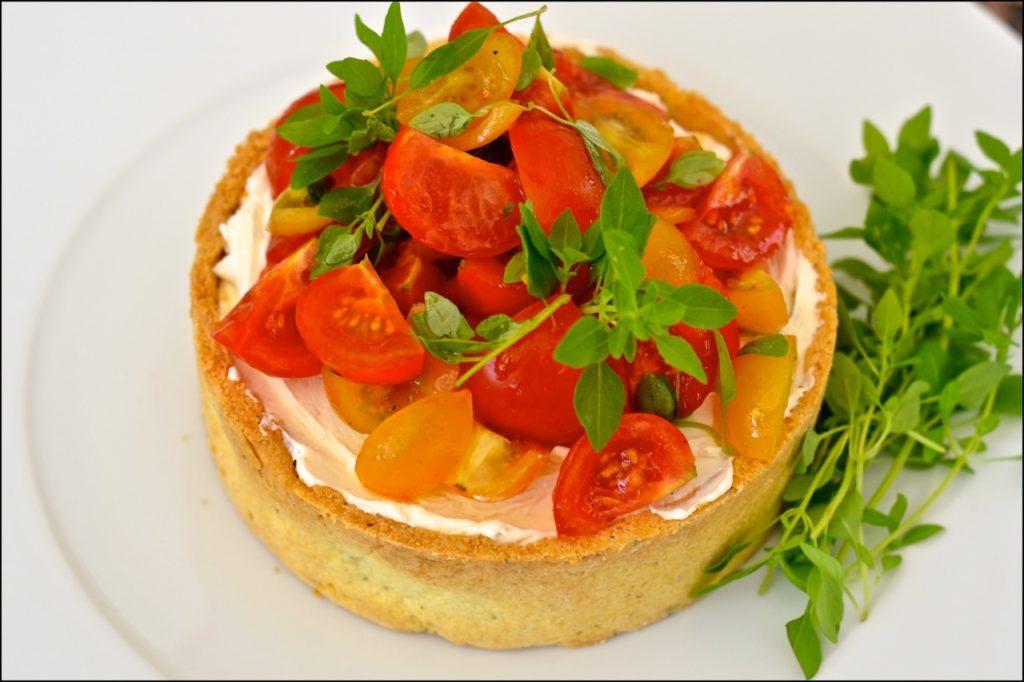 Tarta de ricotta y tomate