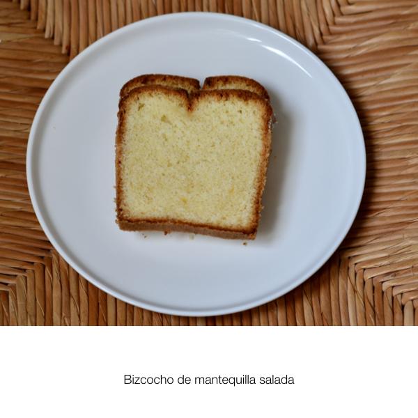Bizcocho de mantequilla salada