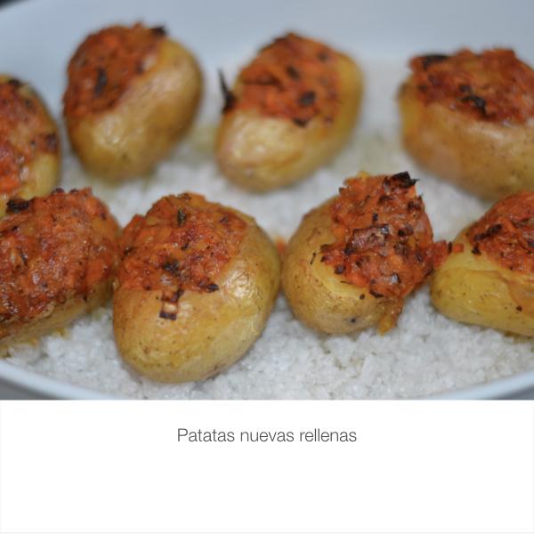 Patatas nuevas rellenas