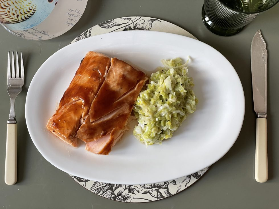 Lomos de salmón con soja